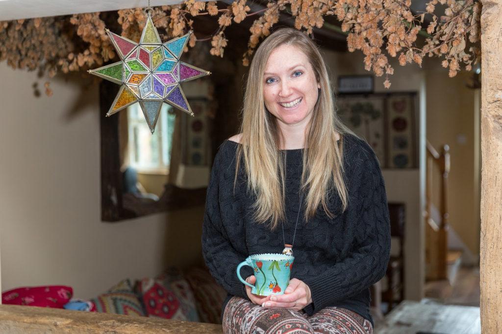 Zoe with mug